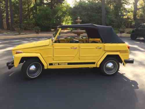 Volkswagen Thing For Sale >> Volkswagen Thing 1974 Yellow Vw Thing Great Condition 35 One
