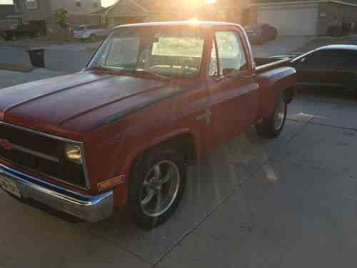 Chevrolet C10 Pickup Scottsdale Stepside 1982 Truck Has 57 One