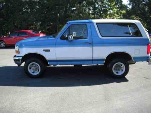 ford bronco xlt 1994 bronco xlt 4x4 needs a transmission 5 0 one owner cars for sale ford bronco xlt 1994